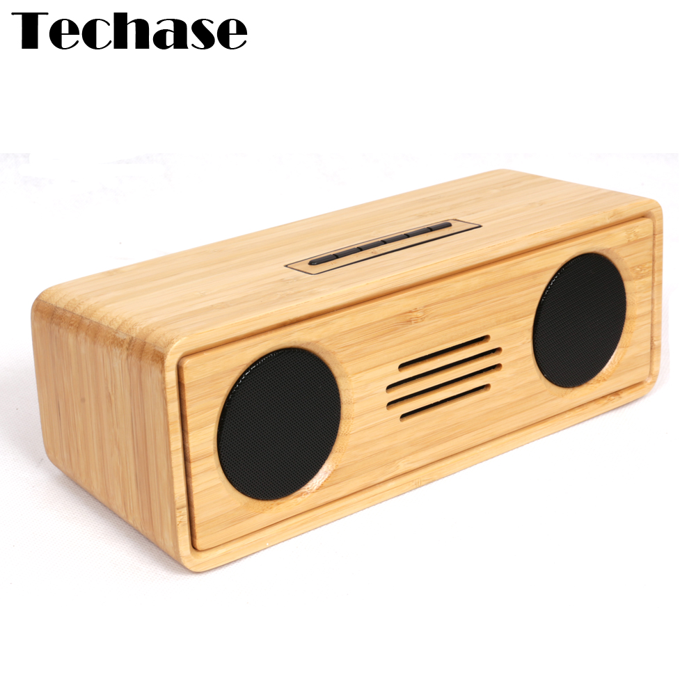 bamboo enceinte bluetooth speaker portable wireless altavoz caixa de som aux subwoofer speakers. Black Bedroom Furniture Sets. Home Design Ideas
