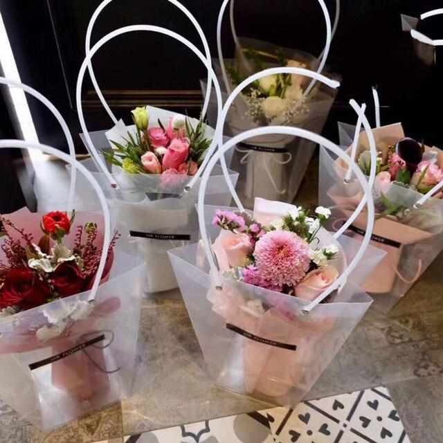 florist decoration long tote bag flower bouquet bagging portable