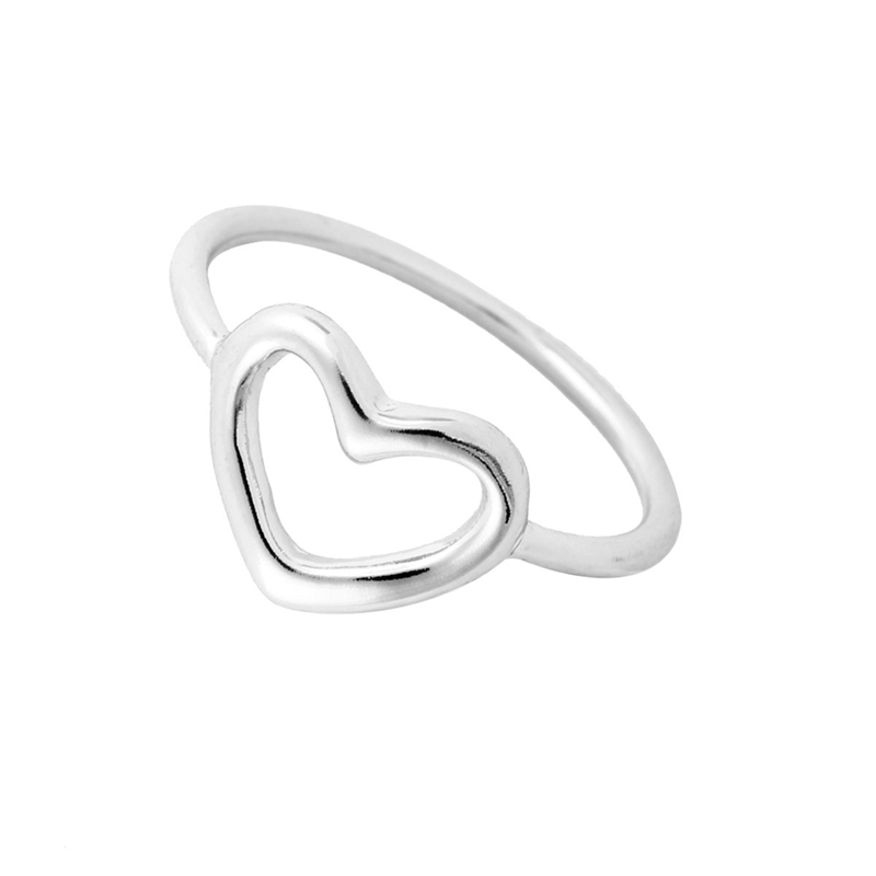 Shuangshuo 2017 New Fashion Accessory Gold Love Open Heart Ring