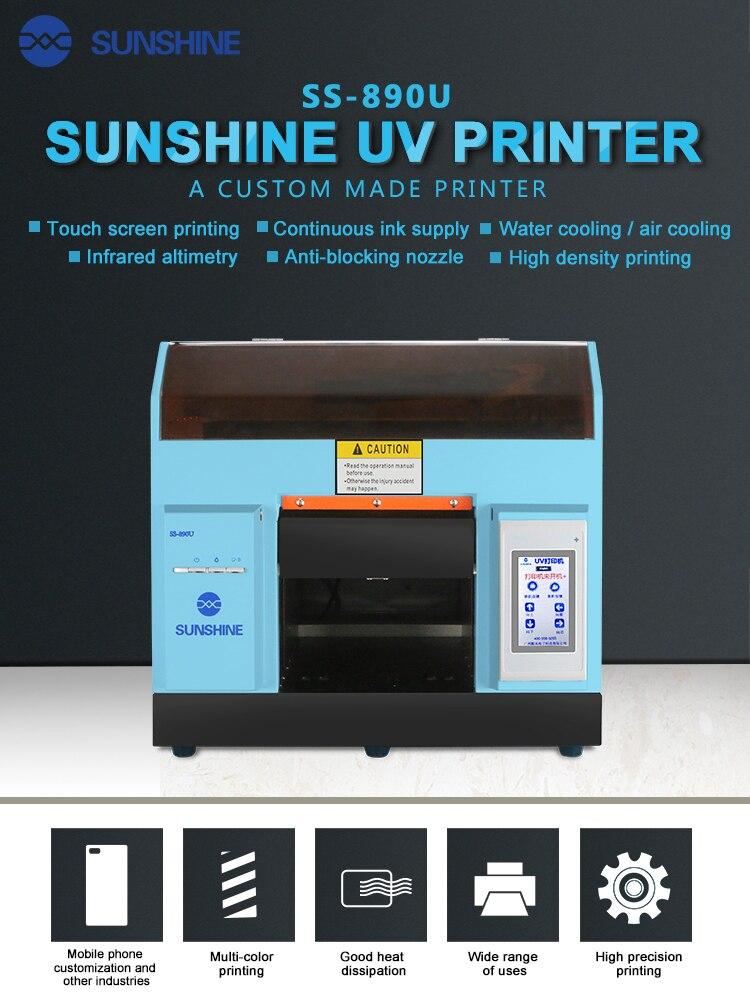 2019 Новые сенсорный экран принтер УФ печати высокая плотность печати Простота эксплуатации чехол для телефона кожа pattern DIY принтера