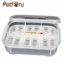 12 Holes Plastic Breeding Box Reptile Eggs Incubator Hatching Lizard Gecko Snake Case Amphibians Container Box with Thermometer(China)