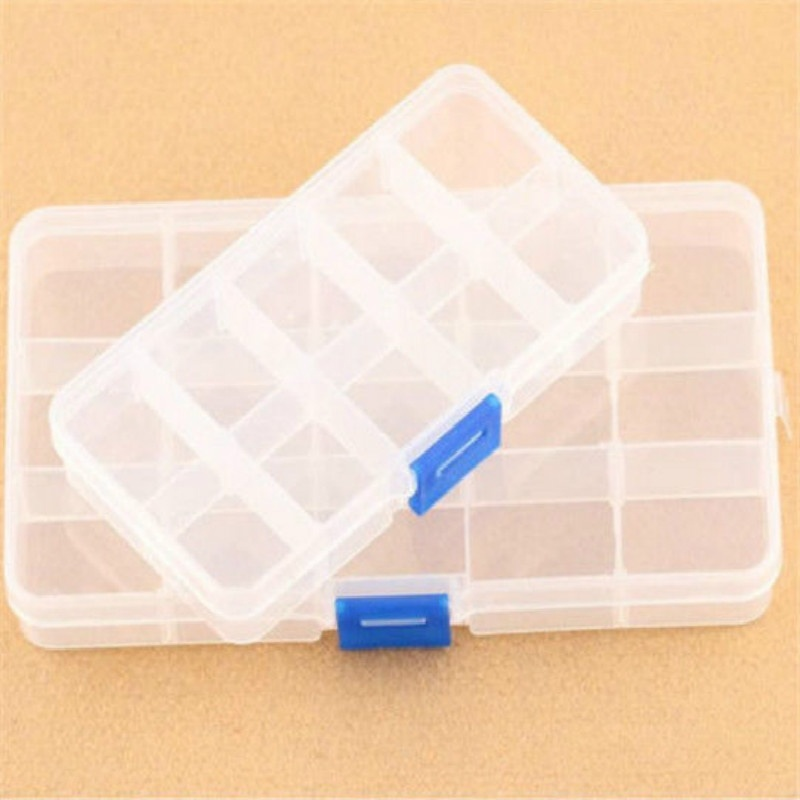 Storage Plastic Box Slots-Organizer Jewelry Pill-Gadgets Loom-Bands Craft Nail-Art-Beads title=
