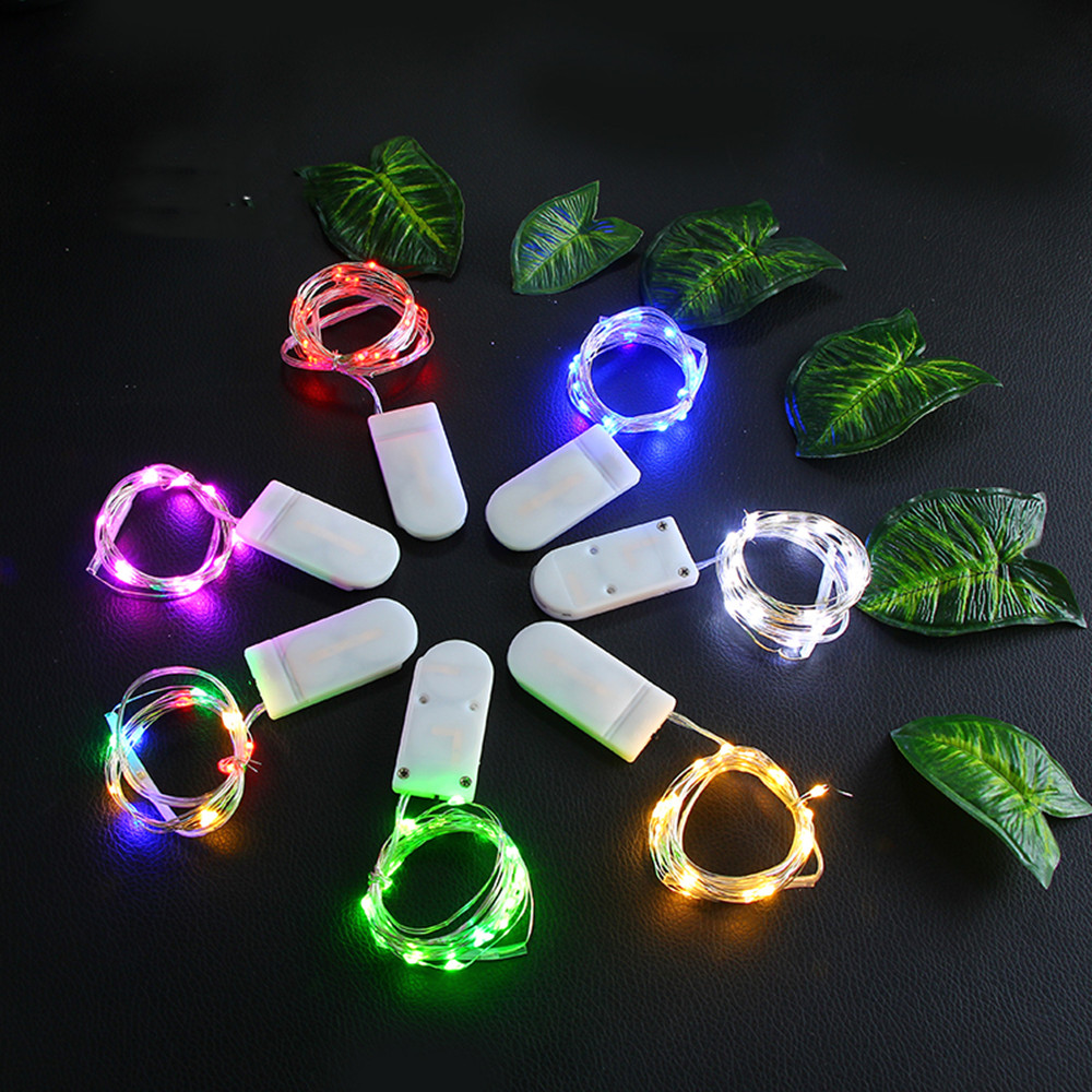 1M 2M 3M 5M LED String Lights For Wedding Party Christmas Decoration Fairy Lights Garden Outdoor Waterproof Garland Light Chain in Lighting Strings from Lights Lighting
