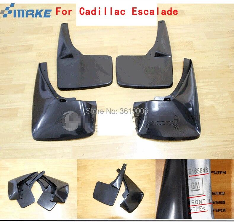 smRKE For Cadillac Escalade Car Mud Flaps Splash Guards Fender Mudguard Splasher Mudapron Dirtboard Front Rear Full Set 4Pcs