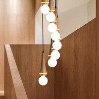 Moderne Nordic holz treppe lange Anhänger Lichter Led Suspension Leuchte Vintage Leuchten Lampe Hause Dekore Garantiert 100%-in Pendelleuchten aus Licht & Beleuchtung bei