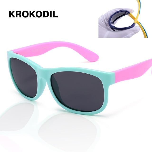 3d6d806ecfaf7 TOP Silicone Crianças Óculos De Sol Meninos Meninas Bebê Infantil Óculos de  Sol Polarizados 100%