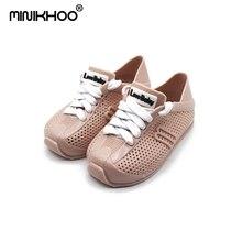 Mini Melissa 2018 Mini Baru Bernapas Sepatu Olahraga Bersih Renda Jelly Tahan Air Sepatu Kasual Gadis Sandal Sepatu Mini Melissa Sepatu