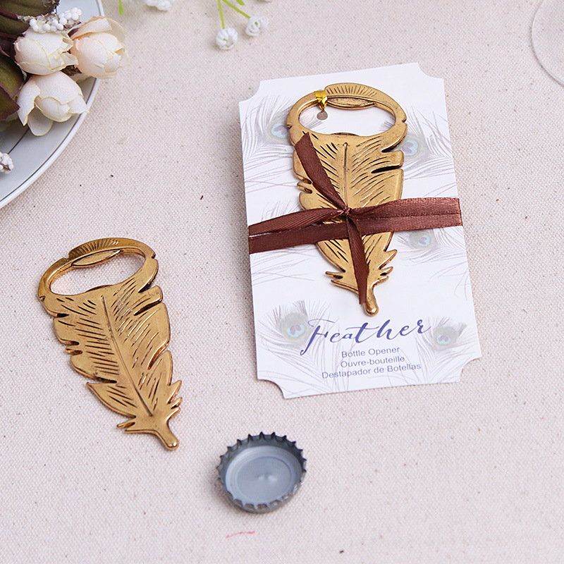 Gifts For Wedding Guests: 12pcs/lot Retro Frether Beer Bottle Opener Wedding Favors
