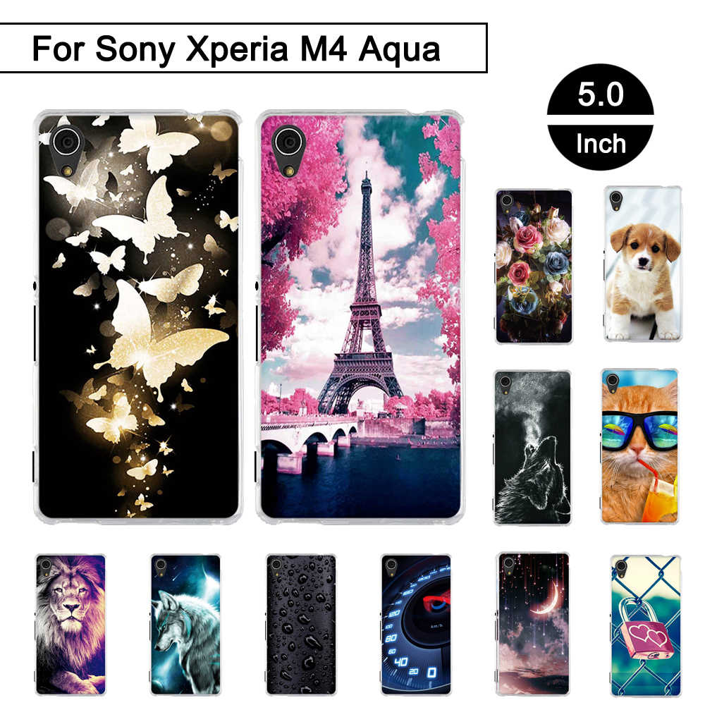 Case For Sony Xperia M4 Aqua 5.0 inch Cover Back Phone Case For Sony Xperia M 4 Aqua Silicon Cover For Sony Xperia m4 aqua Shell