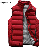 Vest Men New Stylish 2019 Autumn Winter Warm Sleeveless Jacket Army Waistcoat Men's Vest Fashion Casual Coats Mens 10 Colors 419