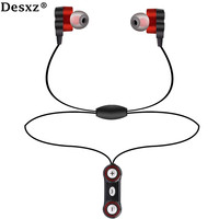 Desxz Earphone Bluetooth Wireless Headphones Dual Speaker HD With Microphone AptX Sport Earphone For IPhone Android
