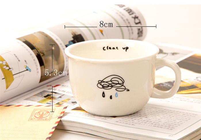 Mustache Cloud Bird Sheep Marks Mug Cute Minimalist Design Designs Ceramic Breakfast Coffee Mugs In From Home Garden On Aliexpress