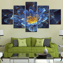 Canvas Paintings Wall Art Framework 5 Pieces Beautiful Dreamlike Violets Flowers Poster Abstract Pictures Living Room Home Decor елочные украшения winter wings шар зима белый 8 см 1 шт стекло n07936