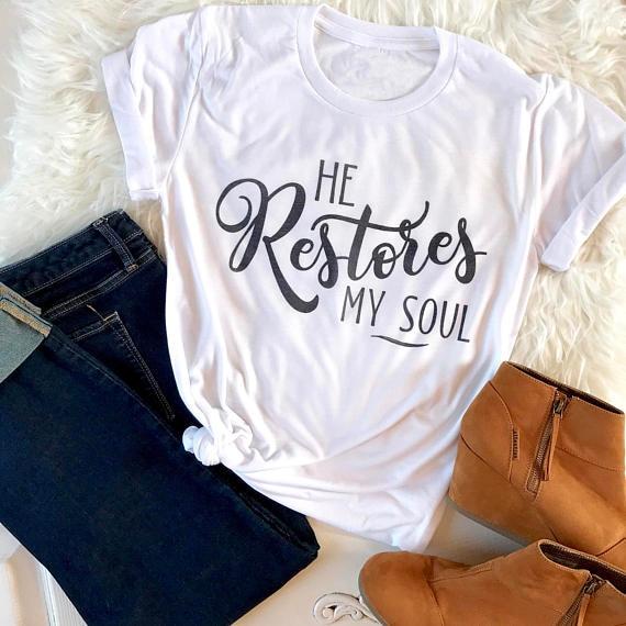 Er Wieder Meine Seele T-Shirt Lustig brief gedruckt t grafik hipster Christian Hemd Tumblr Stil 90 s Mädchen Grunge Kleidung Tops