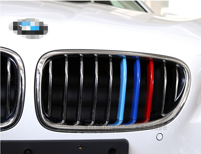 Red Blue Color Front Grill Grille Cover Overlay Decals Trim 3pcs For Bmw X4 X5 2014 2015 X3