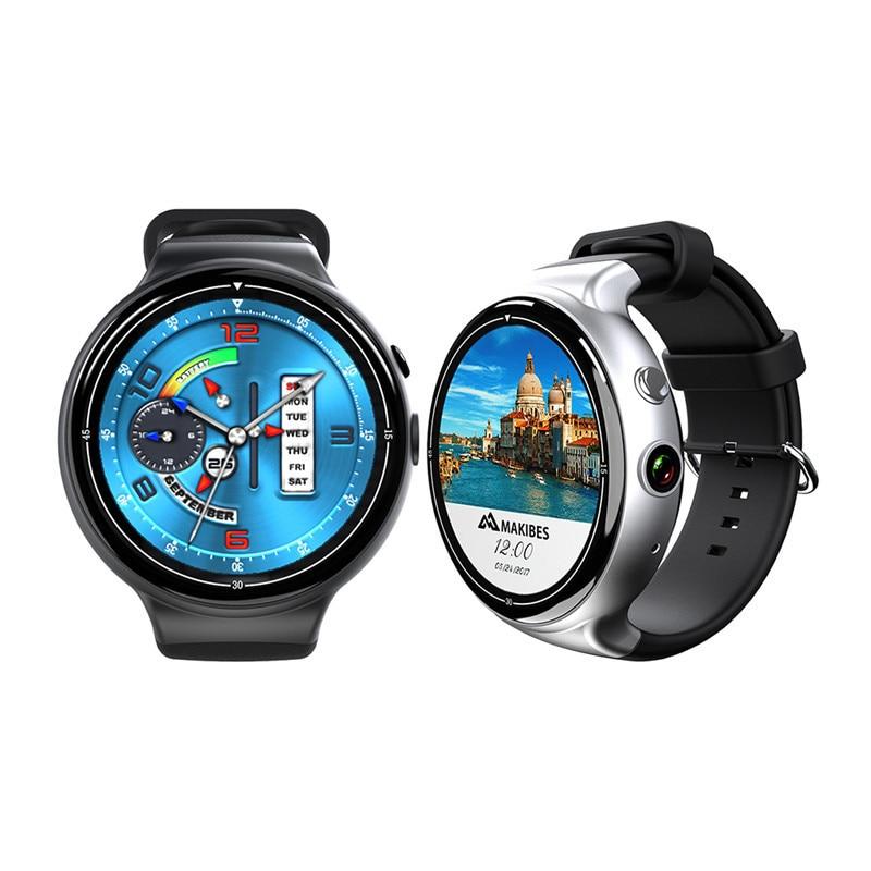 I4 AIR 2MP HD Bluetooth montre intelligente Android 5.1 OS podomètre moniteur de fréquence cardiaque 2G + 16G WIFI GPS Smartwatch avec multi-langue
