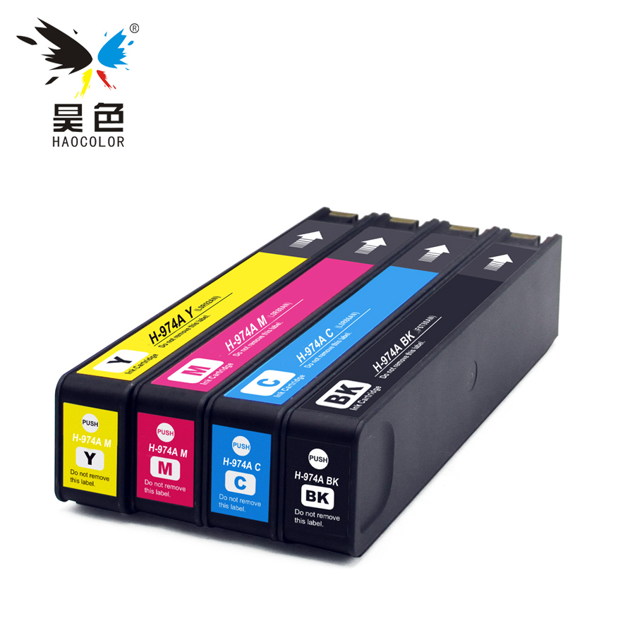 4x Pigment Based remanufacture Ink Cartridges For HP 974 974A HP974 HP974A for HP pagewide 352dw 377dw Pro 452dw 477 552dw 577dw for hp 974 974a remanufactured ink cartridge for hp pagewide pro 352dw 377dw 452dn 452dw 477dn 477dw 552dw 577dw 577z printer
