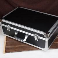 550x350x200mm Large aluminum alloy toolbox suitcase storage case equipment safety Instrument box with Shockproof sponge