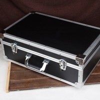 550x350x200mm Large aluminum alloy toolbox suitcase storage case equipment safety Instrument box with Shockproof sponge