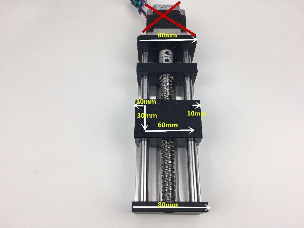 Guide linéaire de Rail de glissière de vis à billes de GGP 1605 100 MM chemin de glissement de Table mobile sans moteur pas à pas Nema 23