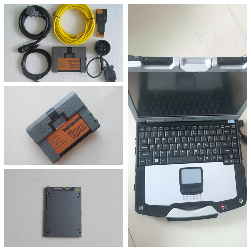 Super diagnostic tool for bmw with 20167.03v icom a2 b c software with laptop cf-30 toughbook 4gb ram full set isis for bmw icom