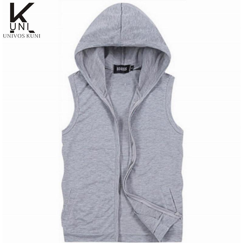 Sleeveless Hooded Jacket   Gray melange   Men   H&M US