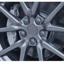 Для Tesla модель 3 крышка колеса автомобиля аксессуары Тесла колпак колеса автомобиля Стайлинг колпачок гайки 20 шт