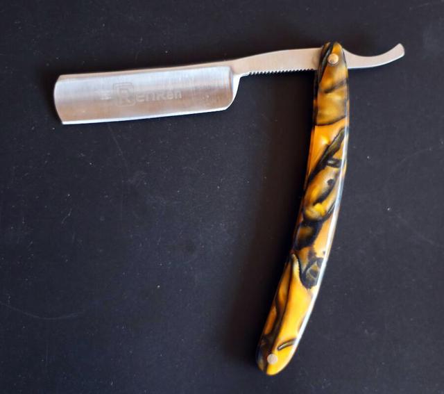 Preço de atacado Em Linha Reta Cabelo Shaper Barber Navalha Folding Barbear Faca de Aço Inoxidável Borda