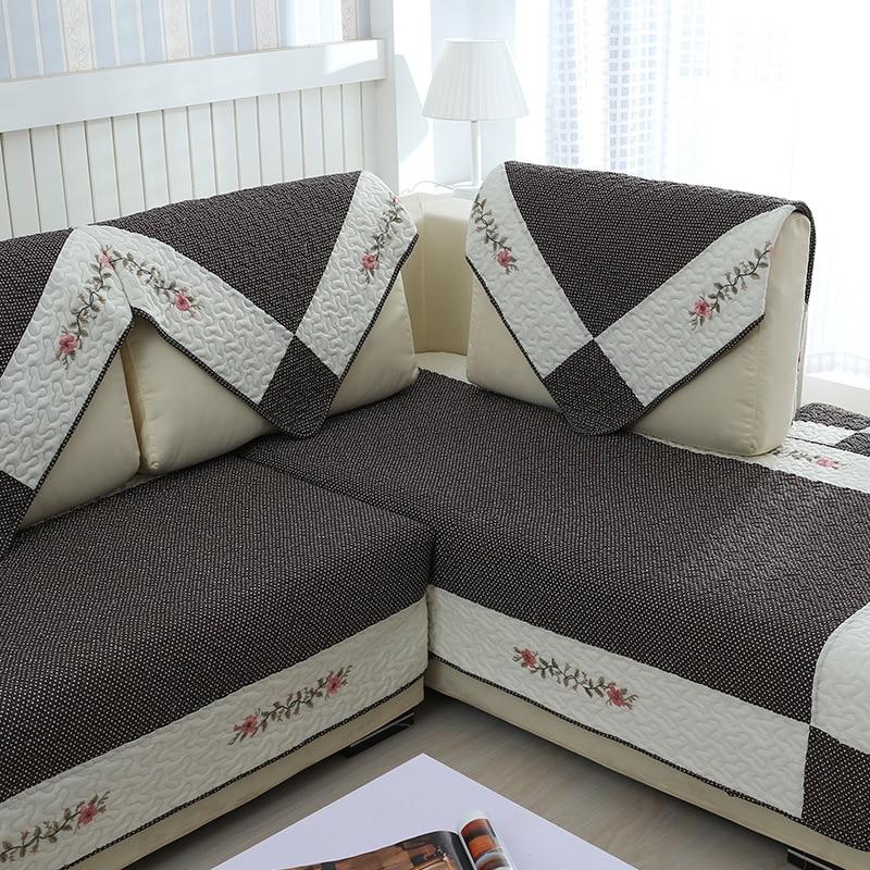 100% Cotton Sofa Cover Set Coffee Sectional Slipcover Modern Magical Sofa Covers Corner Towel Fabric Double Towel Sofa Cushion