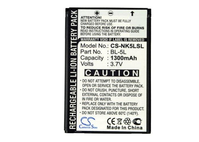 Cameron Sino 1300 mAh Bateria BP-5L para Nokia 770, 7700, 7710, 9500, E61, E62, N800, N92