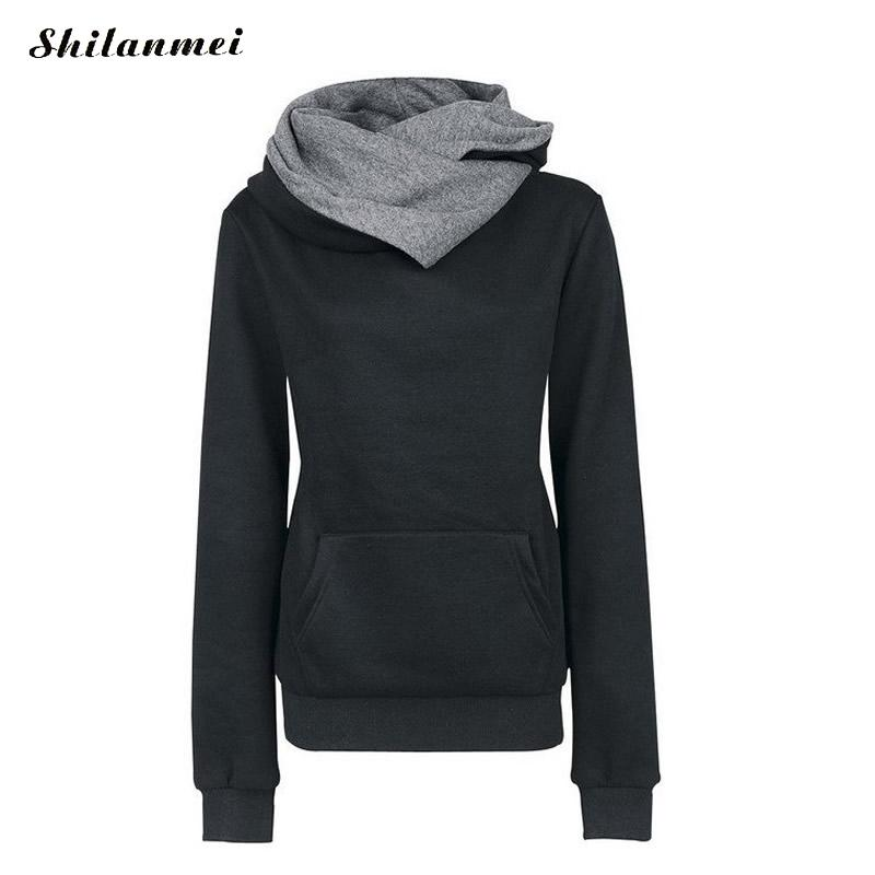 Tianc Apparel Store 2017 New Winter Autumn Women Hoodies Sweatshirts full sleeve sweatshirts ladies Hooded Jacket causal Solid color Women Sudaderas