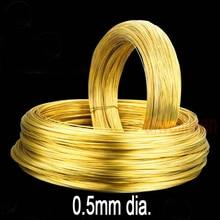Медный провод диаметром 0,5 мм H62, медный провод длиной 5 метров, медный провод, экологичный новый медный кабель, медный стержень, бронзовый пр...