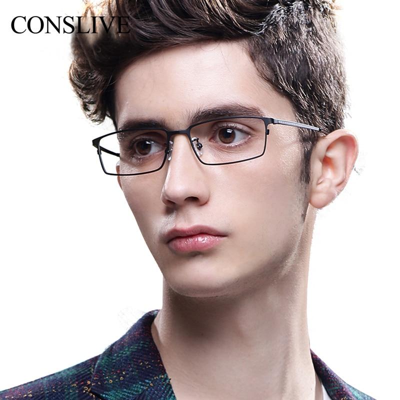 Verres de Prescription hommes verres progressifs à monture optique en titane lunettes myope homme lunettes multifocales V8911 - 2