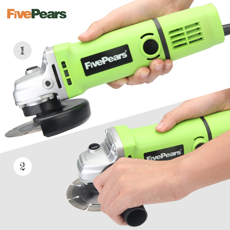 FivePears Angle grinder Electric Power Tool Polisher Angular Grinder 100 mm Angle Grinding Machine Electric Hand Mill in Grinders from Tools