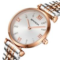 Top Brand SANDA Women Watch Stainless Steel Bracelet Watch Quartz Wristwatch Ladies Female Colock reloj mujer orologio SDP235
