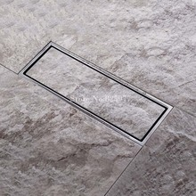 1PCS Stainless Steel Square Invisible Linear Shower Floor Drain Wetroom Grate 30 x 11cm ED14