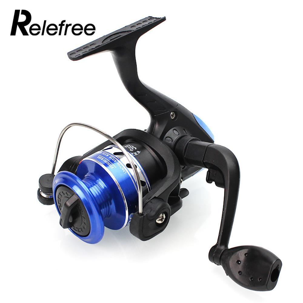 Fishing Reel Spinning Fishing Wheel Fishing Rod Spinning Wheel Portable 50cm Long Metal Blue Black Durable Spool Gear