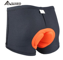 цена ARSUXEO Men Women Cycling Underwear 3D Coolmax Padded MTB Road Bike Bicycle Shorts Comfortable Cycling Sports Under Clothing