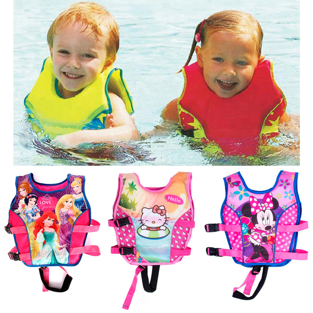 2-10 Year Baby Non Inflatable Swim Vest Safety Baby Float Kid Swim Learning Boy Girl Assisted Swimwear Swimming Pool Accessories