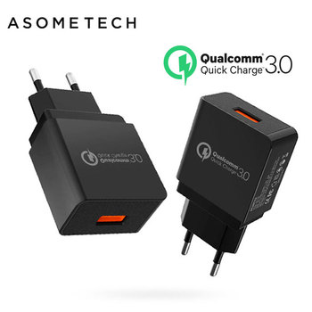 Quick Charger 3.0 USB Charger Fast Charger 18W EU Wall Portable Travel Charger Adapter for ipad Samsung Xiaomi tablet&Smartphone фото