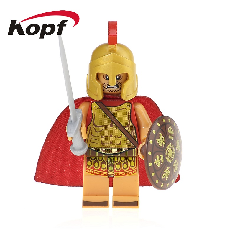 50Pcs XH 650 Super Heroes Arvoesine Rome Commander Soldiers Medieval Knights Bricks Building Blocks Education Toys for children
