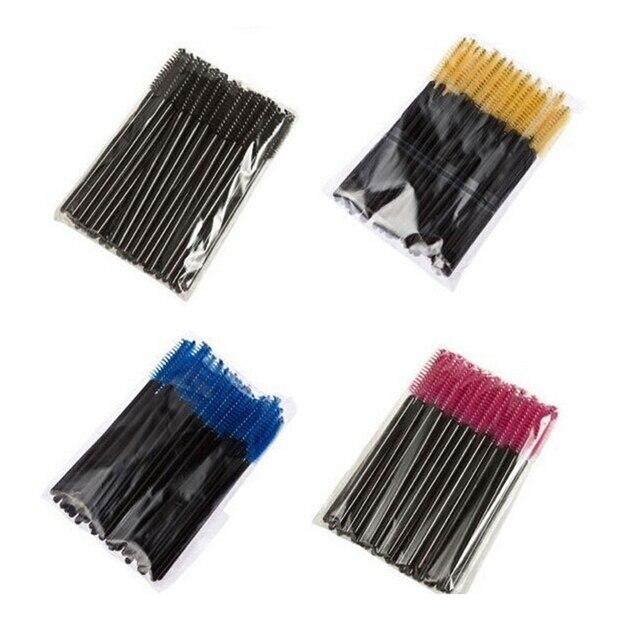 50 Pcs Eyelash Brushes Makeups Brushes Disposable Mascara Wands Applicator Eye lashes Cosmetic Brush Maquiagem Cilio Makeup Tool 5