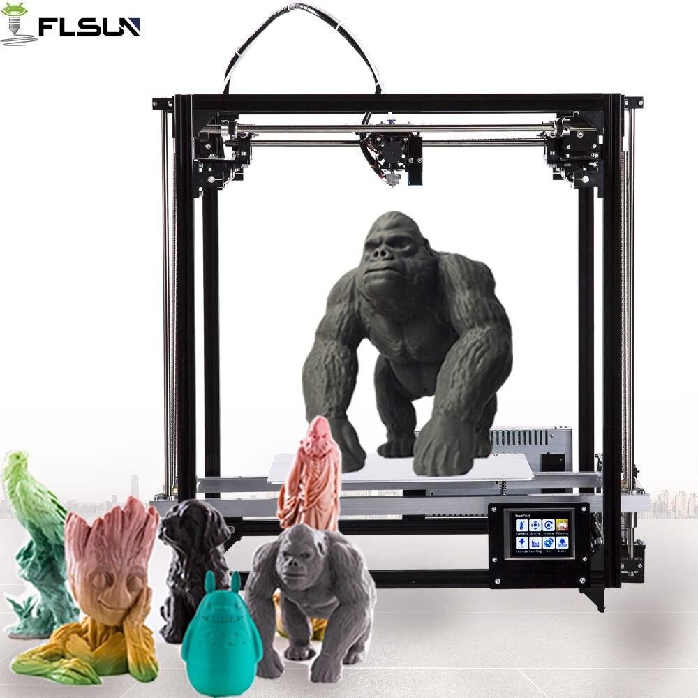 Flsun 3D Stampante di Grande Formato di Stampa 260*260*350mm FAI DA TE 3d Kit Stampante Con Livello di Auto Riscaldata letto di Tocco Dello Schermo