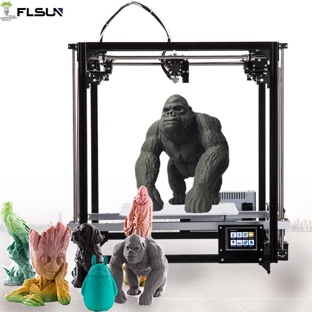 Flsun 3d принтер большой размер печати 260*260*350 мм DIY 3d принтер комплект с автоматическим уровнем с подогревом кровать сенсорный экран