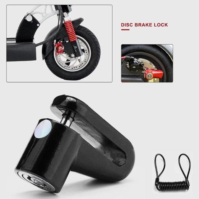 Anti-Theft Disc Brakes Lock with Steel Wire for Mini Xiaomi Mijia M365 Electric Smart Scooter Skateboard Wheels Lock Theft-Proof