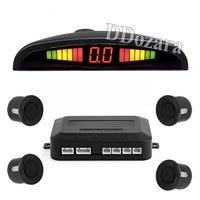 Car Parking Sensors Parktronics 4 Black Silver White 13mm Flat Sensors Reverse Backup Radar Sound Buzzer