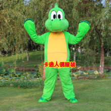 Green Dinosaur Mascot Costume Dragon Fancy Costumes Cosplay Mascotte for Adults Halloween Carnival Party Event