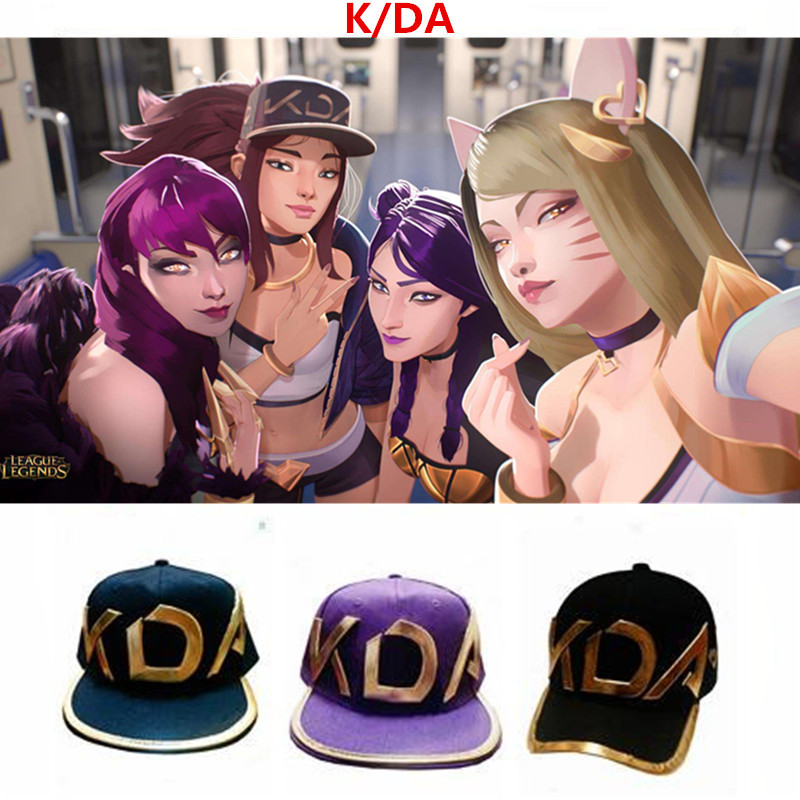 Novelty & Special Use Kids Costumes & Accessories Game Lol Kda Akali Cosplay Props Hats Men Woman Hip Hop Cap Canvas Hand Embroidery Baseball Caps Hats Sun Demo Hat New