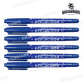 6 Dual Tip Tattoo Pierce Skin Marker Medical Scribe Pen Blue