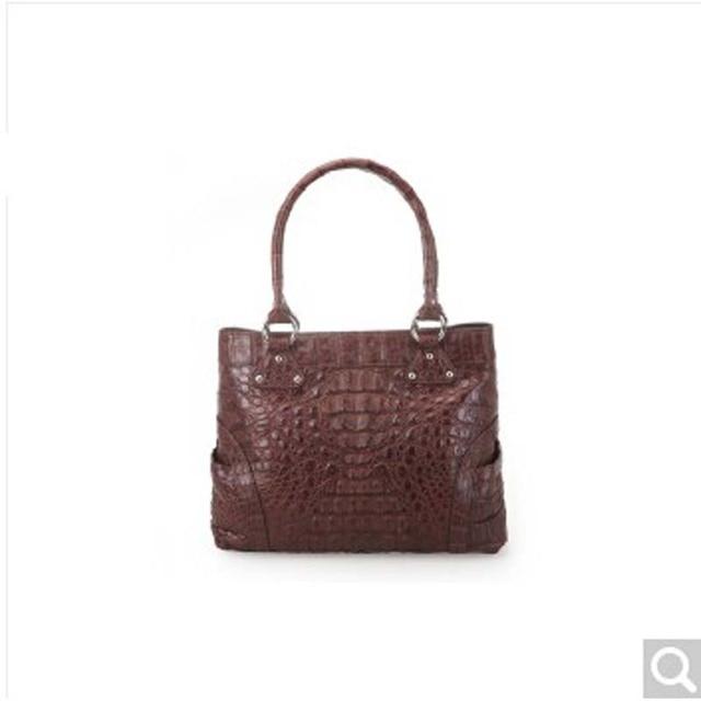 River Thai Crocodile Skin Lady Women Handbag Alligator Leather Head Full Caiman